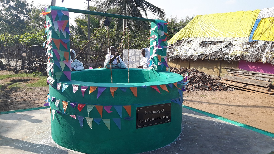 Flood damaged drinking water well repaired in Cuddalore by MSET