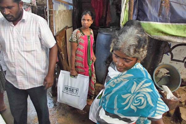 Flood Relief Supplies distributed to the flood affected families in Chennai by MSET